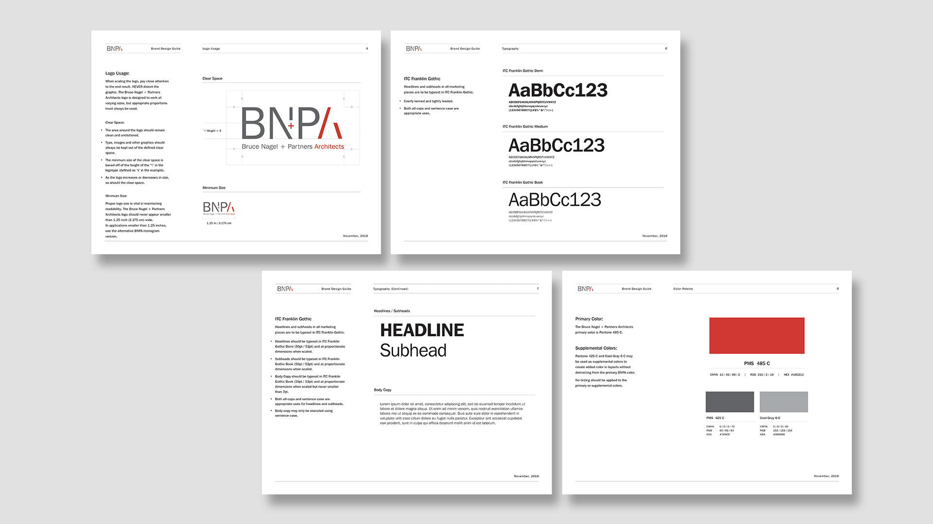 Branding & Design Guidelines - Bruce Nagel and Partners Architects, Dead on Design