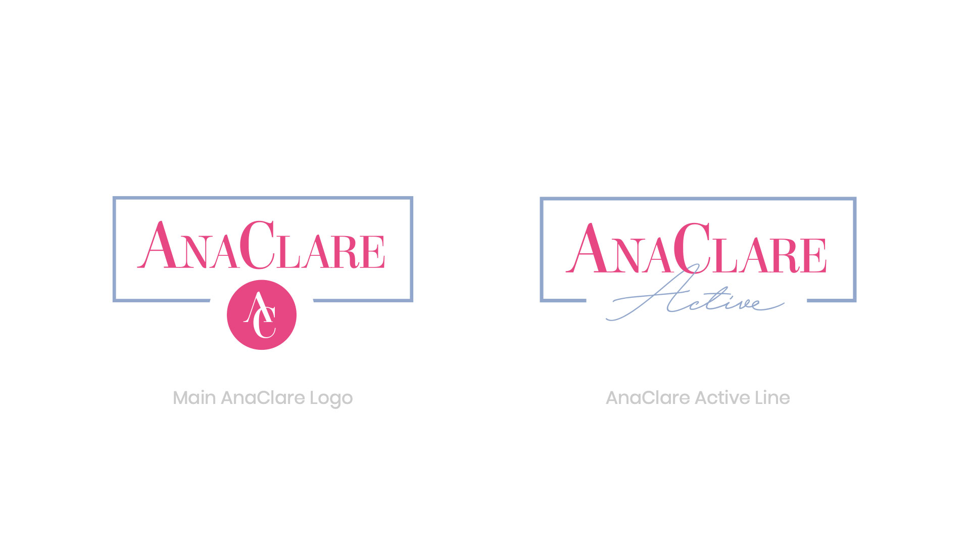 new brand identity - AnaClare and AnaClare Active - Dead on Design