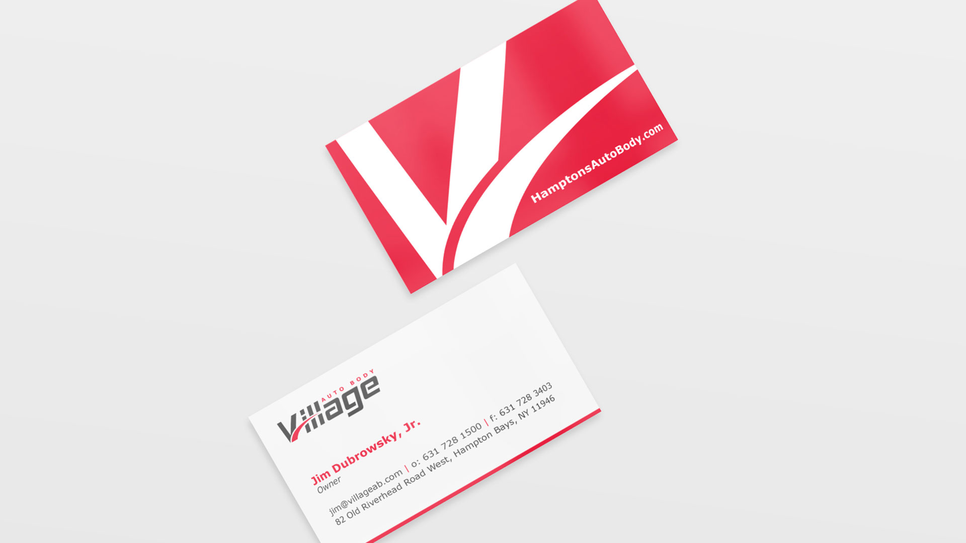 Custom Business Card Design - Village Auto Body