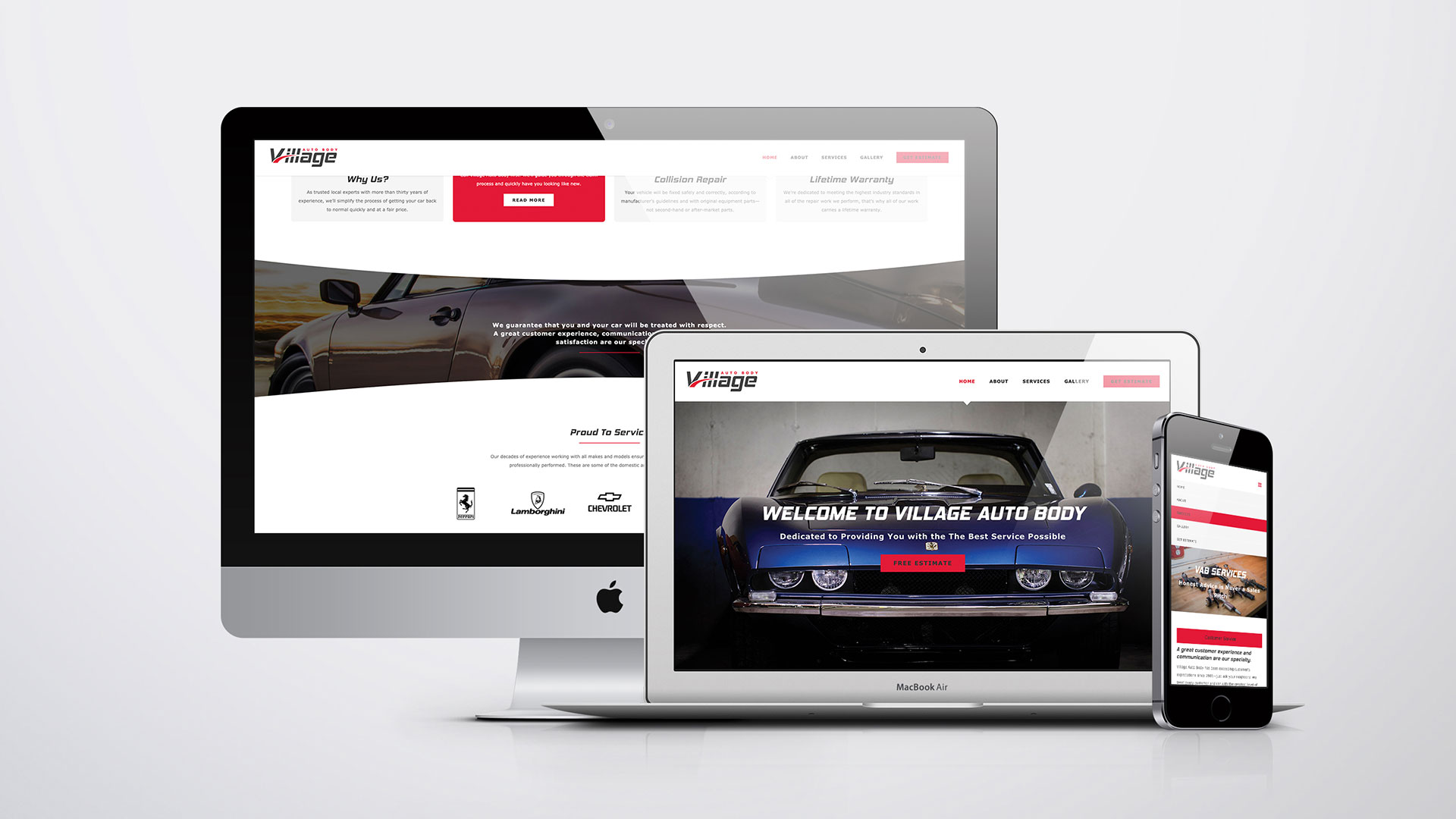 Custom Responsive Website Design - Village Auto Body