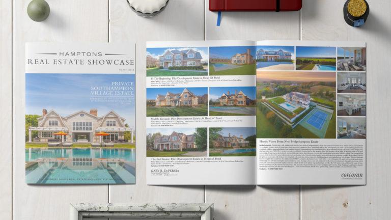 Hamptons Real Estate Showcase Magazine Design